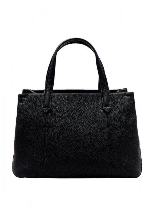 Túi xách nữ da bò thật màu đen ET643