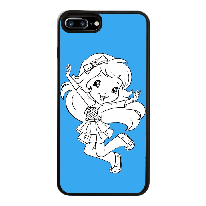 Ốp Lưng Kính Cường Lực Dành Cho Điện Thoại iPhone 7 Plus / 8 Plus Baby Strawberry Mẫu 10