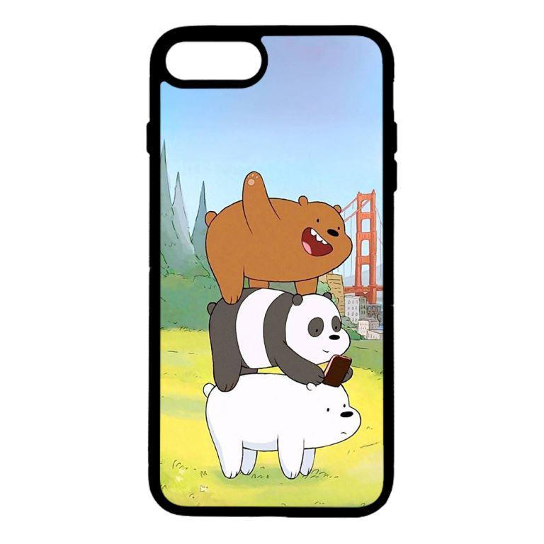 Ốp lưng dành cho điện thoại Iphone 7 Plus Bộ Ba Chú Gấu
