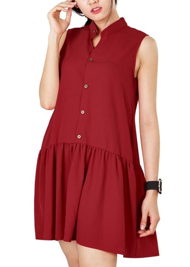 Đầm Sơ Mi Cổ Trụ Chân Bèo Siskin 79890425 - Đỏ