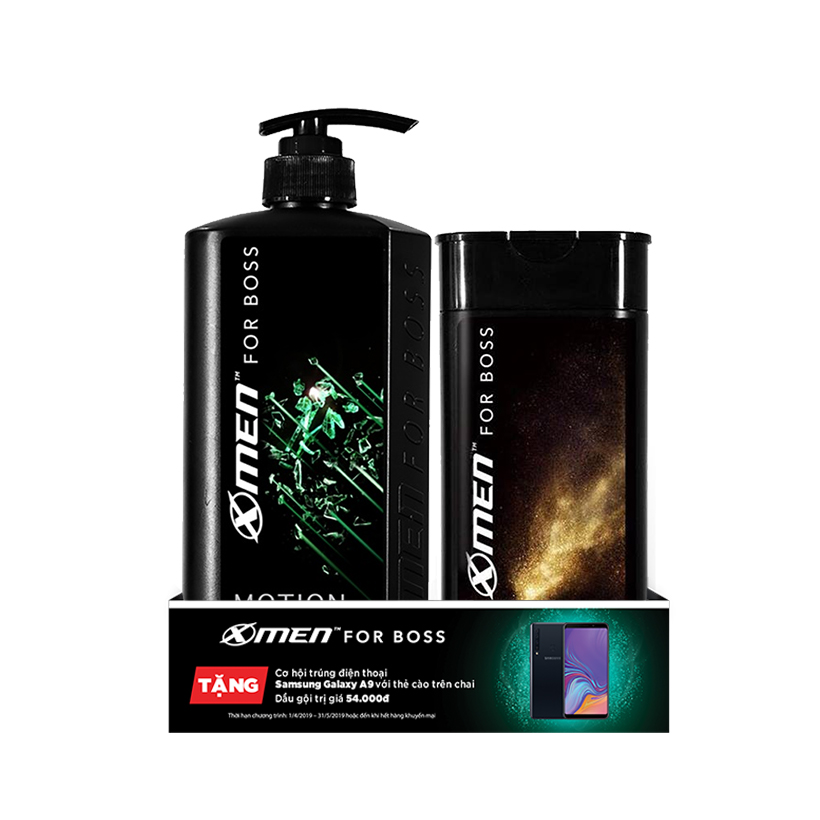 Combo Dầu gội nước hoa X-Men for Boss Motion 650g + Dầu gội nước hoa X-Men for Boss Luxury 150g