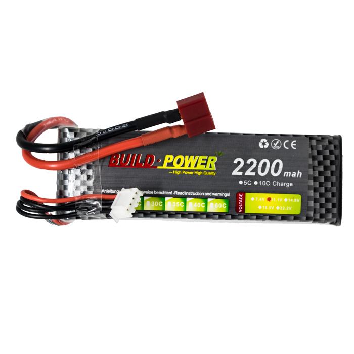 Pin lipo 1100 MAh-1800 MAh-2200 MAh 11.1V 25C 3S Build Power