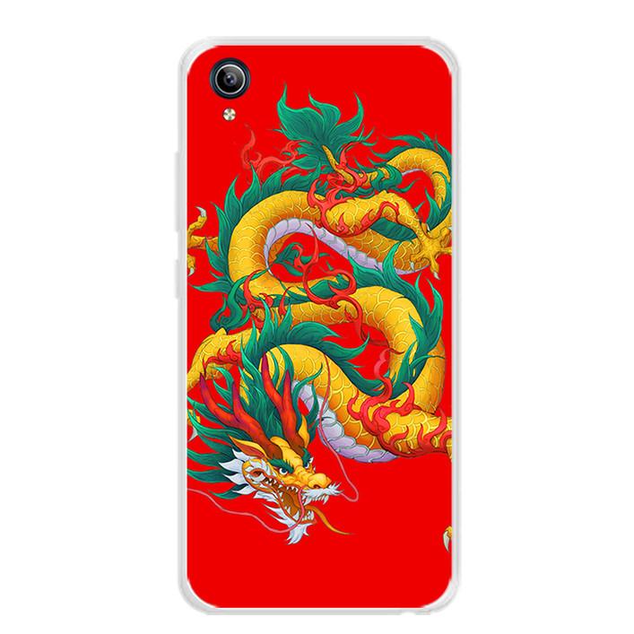 Ốp lưng dẻo cho điện thoại Vivo Y91C - 0093 DRAGON09 - Hàng Chính Hãng