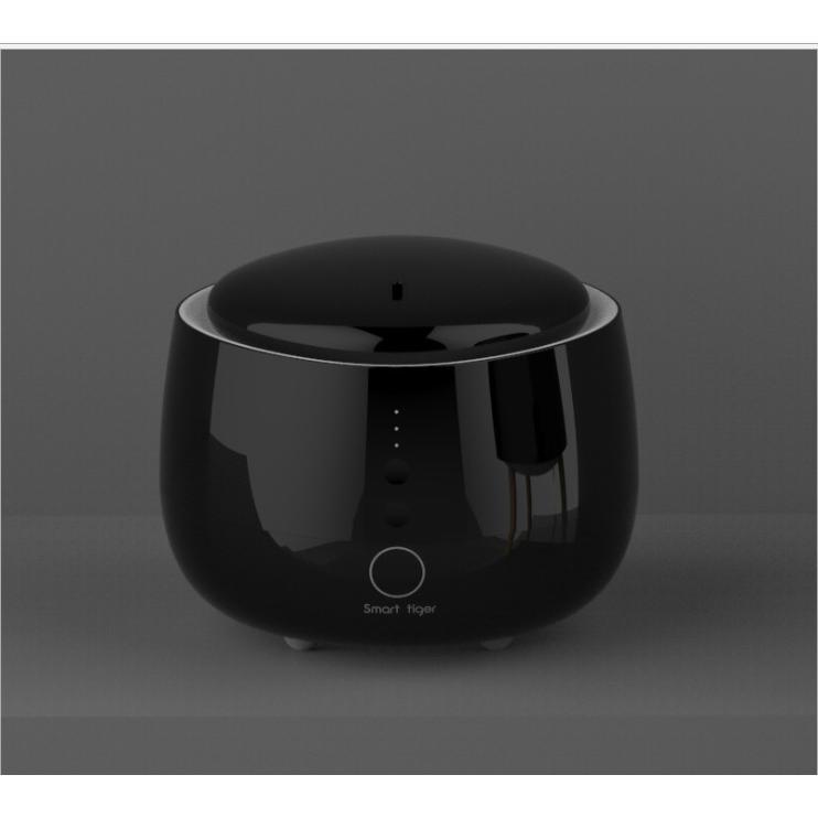 Máy khuếch tán tinh dầu ấm đen điều khiển bằng điện thoại thông minh qua sóng wifi
