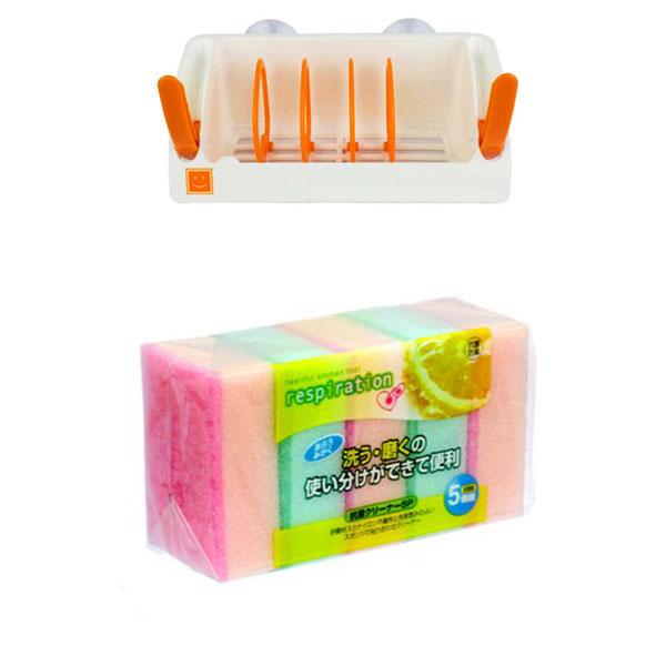 Combo Giá để chai nước rửa bát, miếng rửa bát thông minh + Set 5 miếng xốp rửa bát 1 mặt ráp cao cấp (Made in Japan) - 757608 , 7598320625520 , 62_14941591 , 235000 , Combo-Gia-de-chai-nuoc-rua-bat-mieng-rua-bat-thong-minh-Set-5-mieng-xop-rua-bat-1-mat-rap-cao-cap-Made-in-Japan-62_14941591 , tiki.vn , Combo Giá để chai nước rửa bát, miếng rửa bát thông minh + Set 5 m