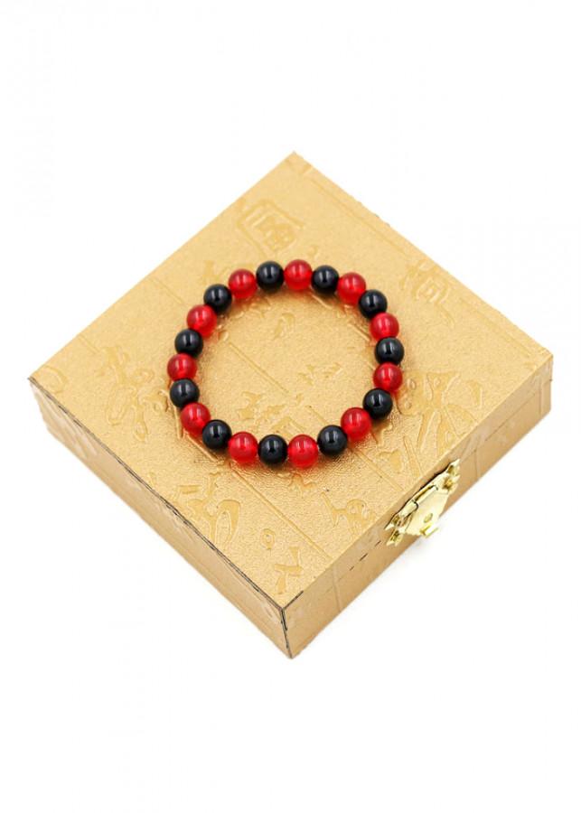 Vòng đeo tay chuỗi hạt đá thạch anh đỏ đen - Sản phẩm phong thủy phù hợp cho nữ