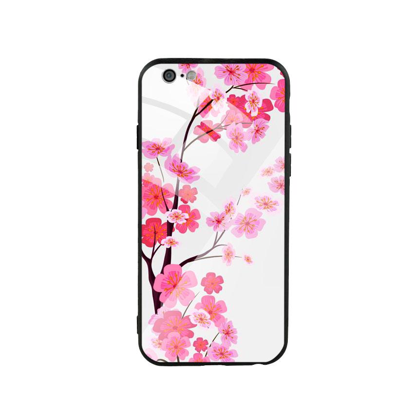 Ốp Lưng Kính Cường Lực cho điện thoại Iphone 6 / 6s - Cherry Blossom 02