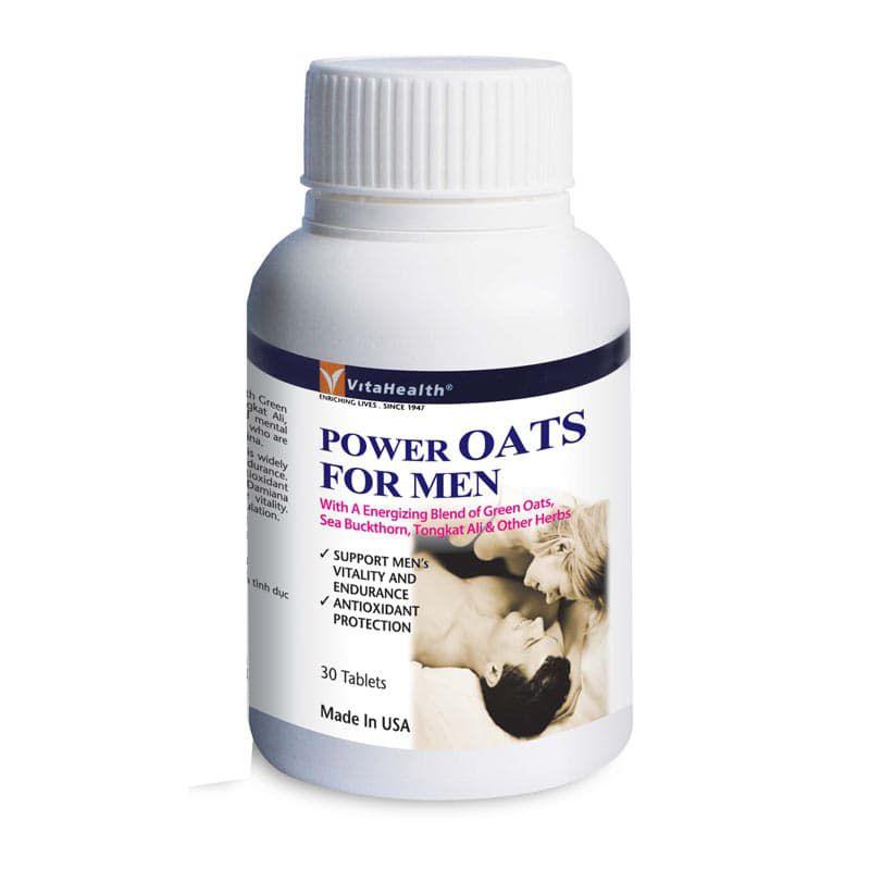 Thực phẩm chức năng: Viên Uống Tăng Cường Sinh Lý Nam Power Oats For Men Tab 30 Viên - Vita Health - 976090 , 7262445071202 , 62_2420651 , 578000 , Thuc-pham-chuc-nang-Vien-Uong-Tang-Cuong-Sinh-Ly-Nam-Power-Oats-For-Men-Tab-30-Vien-Vita-Health-62_2420651 , tiki.vn , Thực phẩm chức năng: Viên Uống Tăng Cường Sinh Lý Nam Power Oats For Men Tab 30 Viên