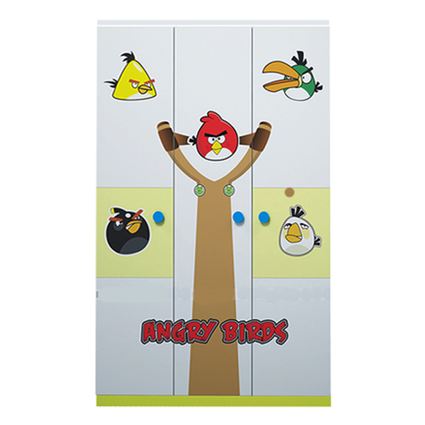 Tủ Quần Áo 3 Cánh Hình Angry Bird IBIE CWARBM12 (1m2)