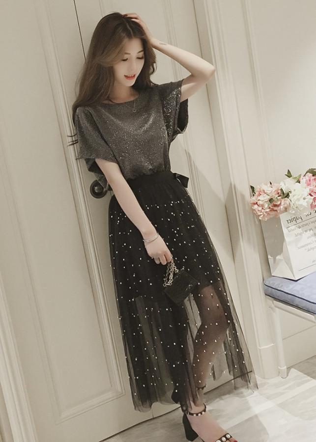 1084957934679 - Set đầm ánh kim thời trang nữ Rolisa RD010