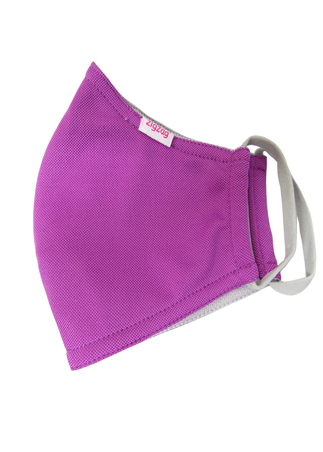 Khẩu trang chống nắng UPF50+ hồng đậm Zigzag MAS00108