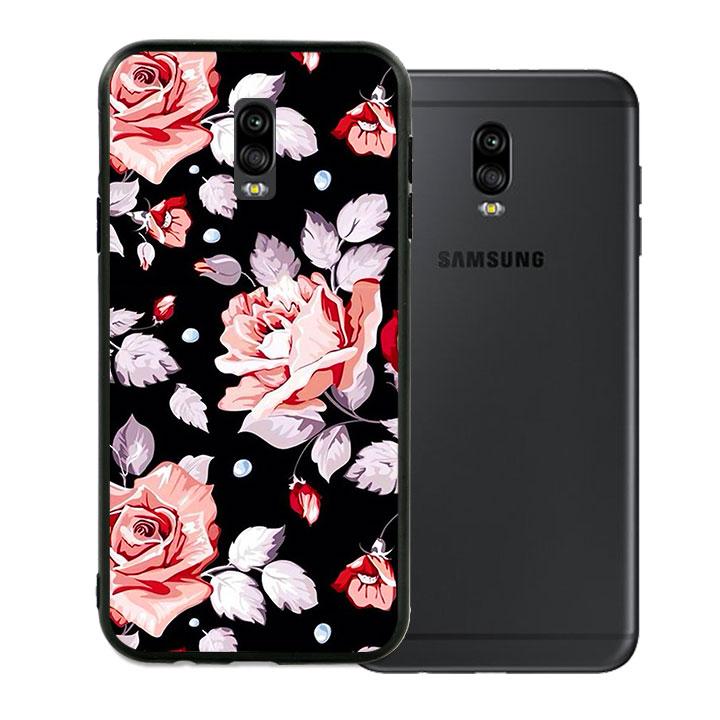 Ốp lưng viền TPU cho Samsung Galaxy J7 Plus - Rose 03