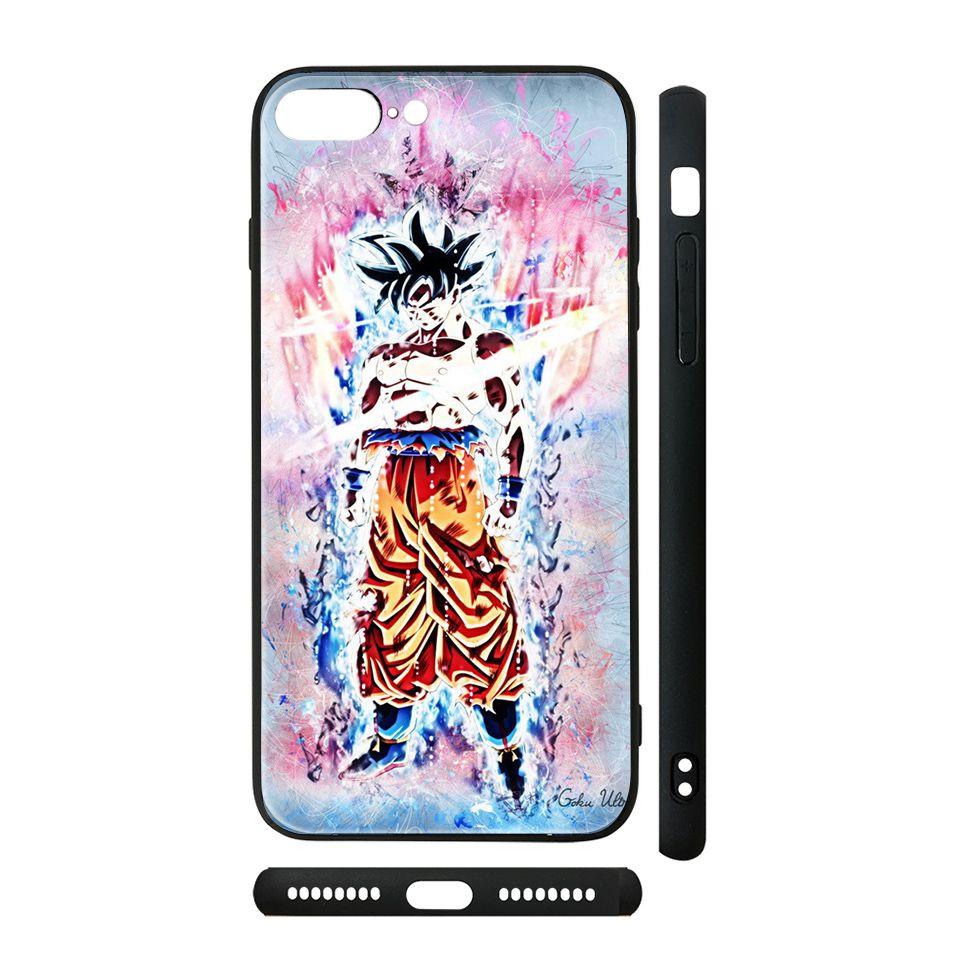 Ốp kính cho iPhone in hình Dragon Ball - Goku Ultra Instinct - 7vnr56 (có đủ mã máy)