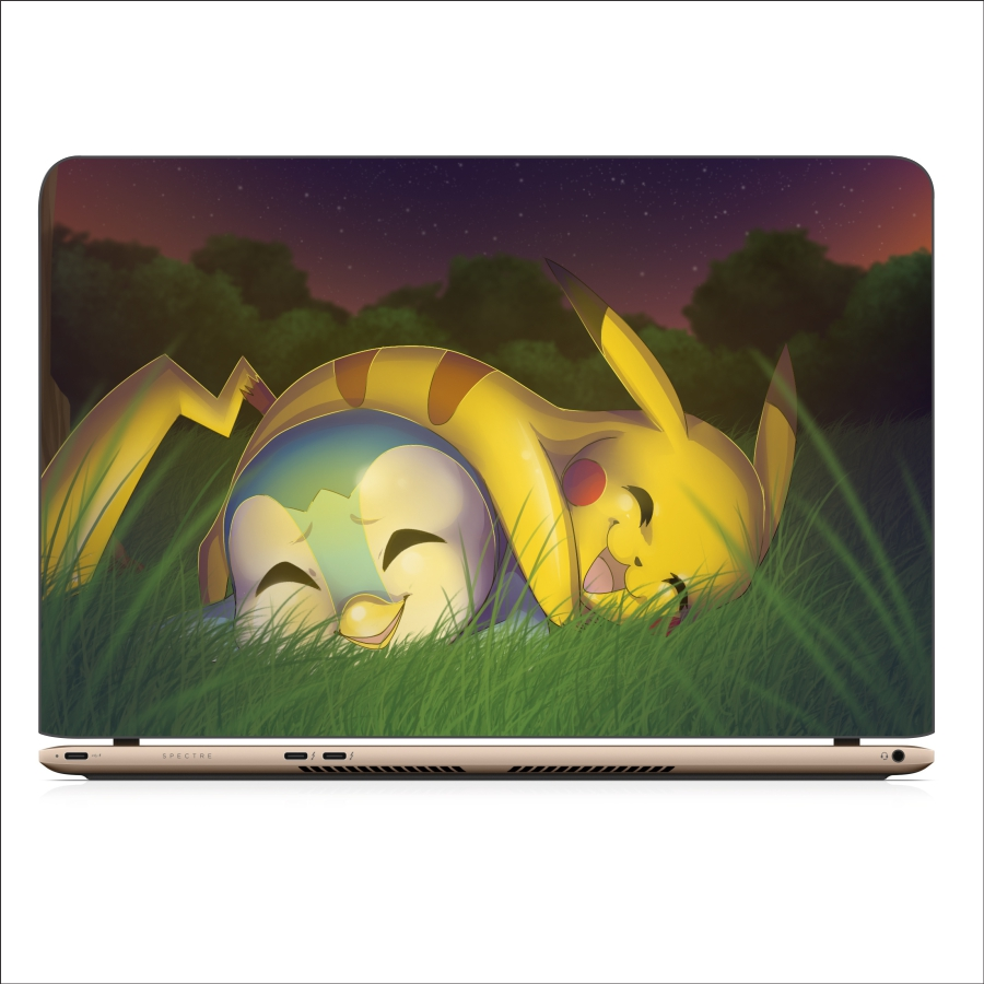 Miếng Dán Skin Decal Dành Cho Laptop - Pikachu 3 - Mã: 111118