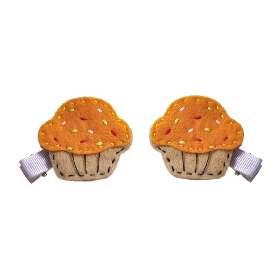 Kẹp Tóc Cupcake Cho Bé Latin Handmade LT376C