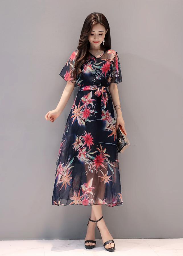 Đầm Maxi Họa Tiết Tay Rộng 3MX2132  -  (Size )