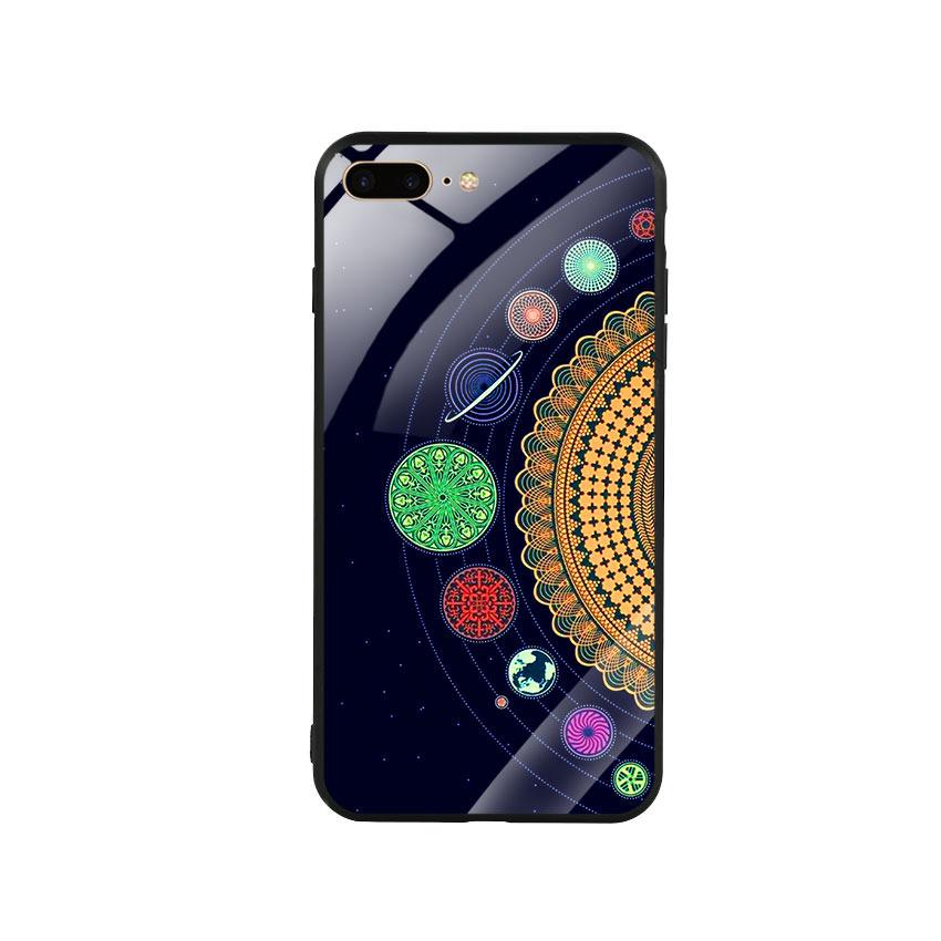 Ốp lưng kính cường lực cho điện thoại Iphone 7 Plus / 8 Plus - Galaxy