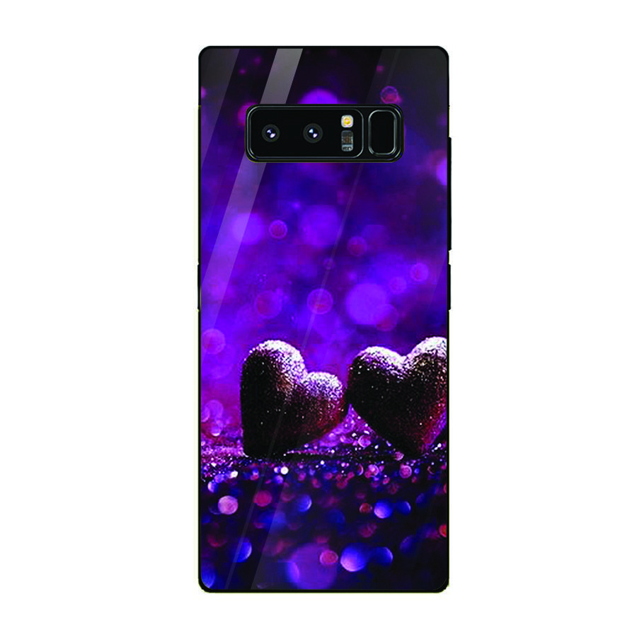 Ốp kính cường lực cho điện thoại Samsung Galaxy Note 8 - trái tim tình yêu MS LOVE086 - Hàng Chính Hãng