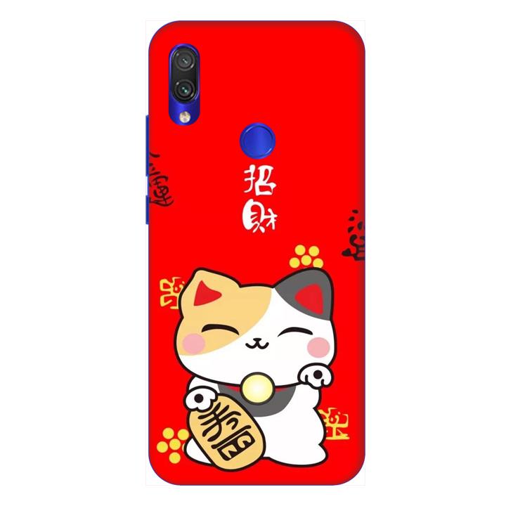 Ốp lưng dành cho điện thoại Xiaomi Redmi Note 7 hình Mèo May Mắn Mẫu 3 - Hàng chính hãng