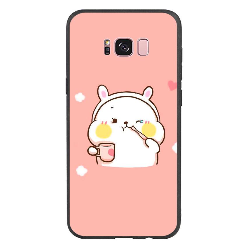 Ốp lưng viền TPU cho điện thoại Samsung Galaxy S8 Plus - Cute 06