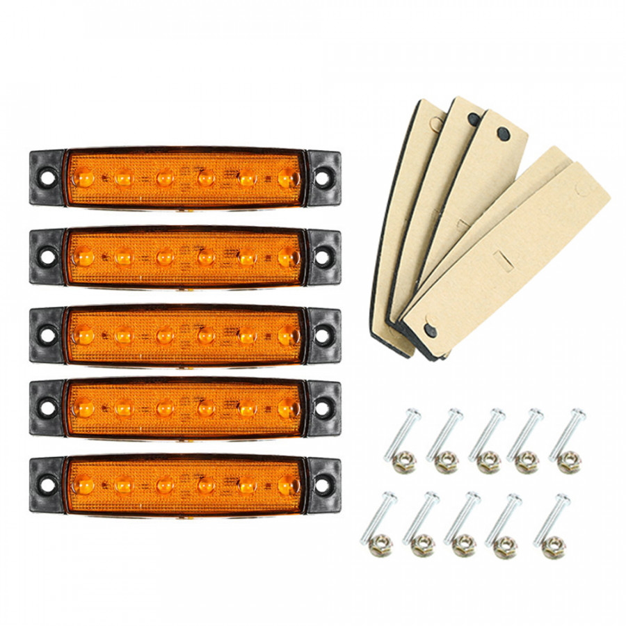 10PCS 6 LED Amber Side Marker Light Indicator 12V for Truck Bus Boat RV Lorries Jeep SUV - 1522828 , 5501300036102 , 62_15268246 , 238000 , 10PCS-6-LED-Amber-Side-Marker-Light-Indicator-12V-for-Truck-Bus-Boat-RV-Lorries-Jeep-SUV-62_15268246 , tiki.vn , 10PCS 6 LED Amber Side Marker Light Indicator 12V for Truck Bus Boat RV Lorries Jeep SUV
