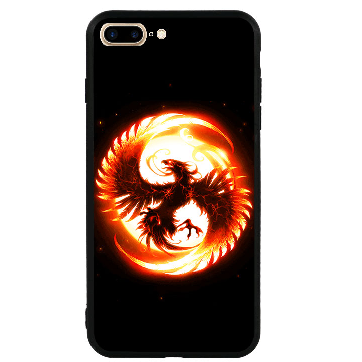 Ốp lưng viền TPU cao cấp dành cho iPhone 7 Plus - Phượng Hoàng Lửa