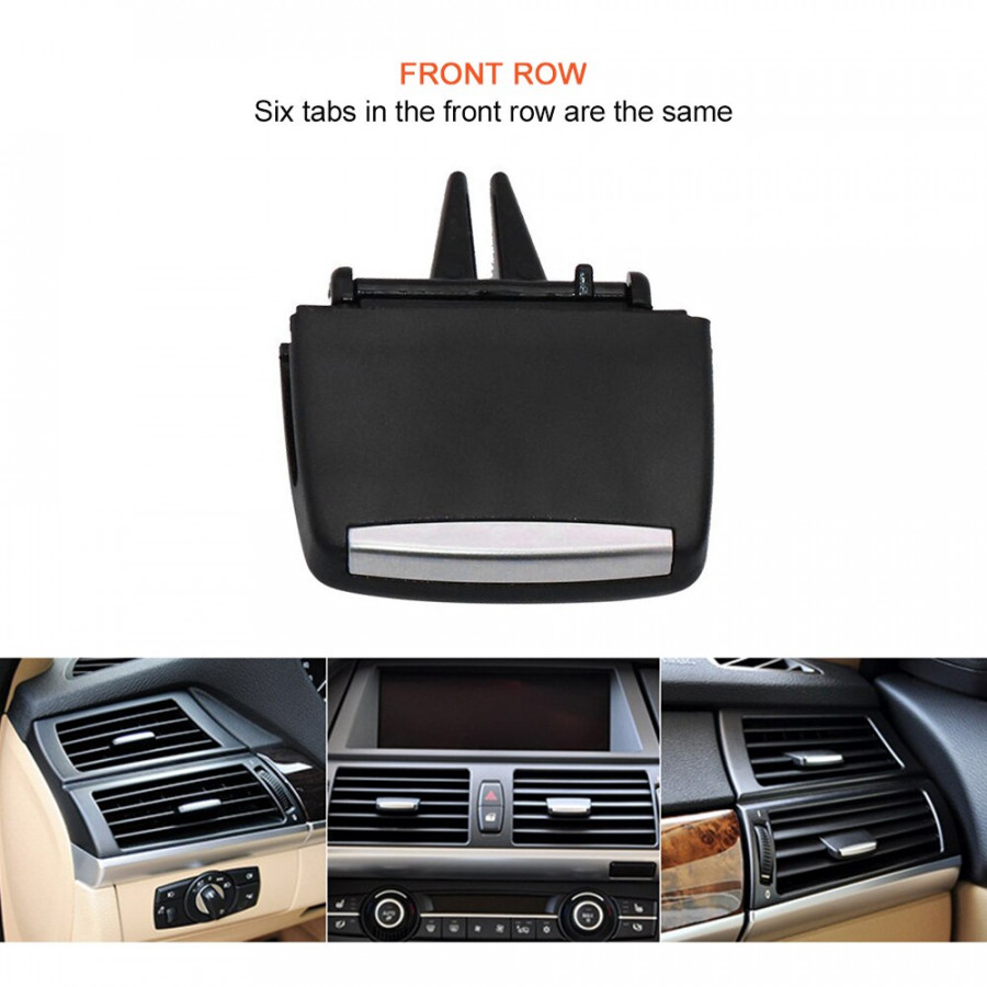 Fresh Air Grille Clip Air Conditioning Vent Outlet Tab Clip Wind Direction Plectrum Knob for BMW X5 E70 2006-2013 X6 E71