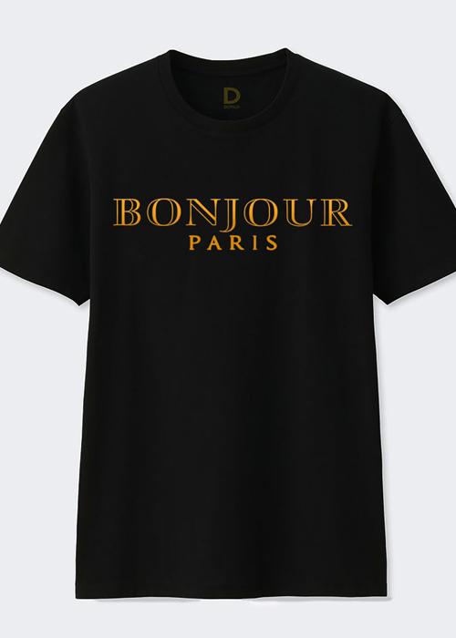 áo thun Dotilo nữ Bonjour Paris Gold Vinyl - hm956