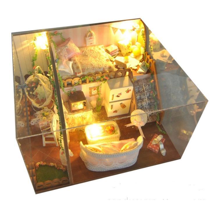 Nhà gỗ búp bê I-DIY - biệt thự mùa thu vàng cho nàng lãng mạn