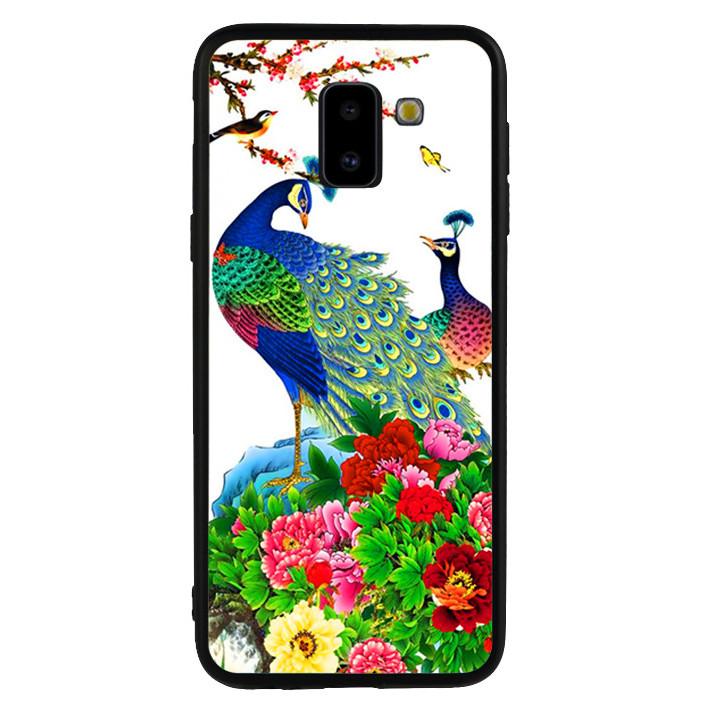 Ốp lưng viền TPU cho Samsung Galaxy J6 2018 - Chim Công