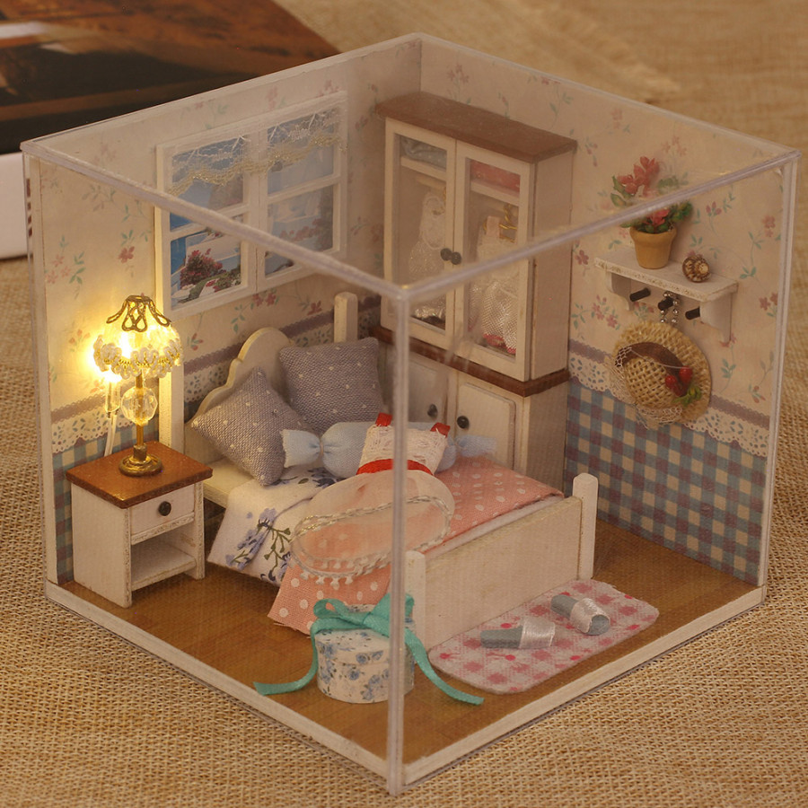 Miniature Super Mini Size Doll House Model Building Kits Wooden Furniture Toys DIY Dollhouse Girl Bedroom Warm Whispers - 1860812 , 9800274845311 , 62_14098112 , 286000 , Miniature-Super-Mini-Size-Doll-House-Model-Building-Kits-Wooden-Furniture-Toys-DIY-Dollhouse-Girl-Bedroom-Warm-Whispers-62_14098112 , tiki.vn , Miniature Super Mini Size Doll House Model Building Kits