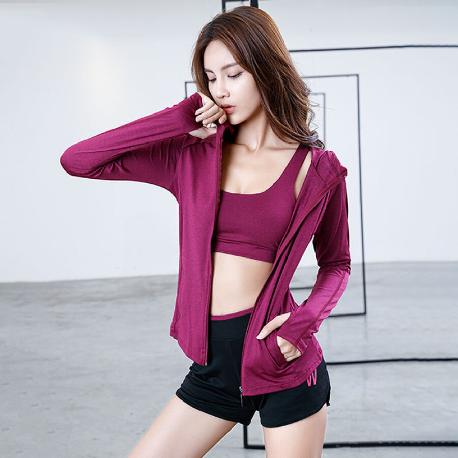 Austrian Yoga clothing sports suit female autumn and winter 2018 new gym running sports quick-drying professional fitness clothing five-piece