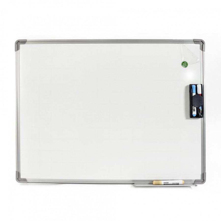 Bảng từ trắng viết bút dạ 40x60cm (Tặng bút, bông lau, nam châm)
