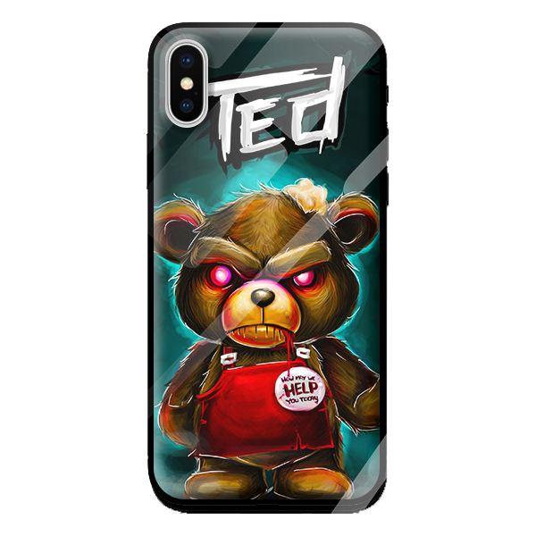 Ốp kính cho Iphone X mẫu TED 1 - Hàng chính hãng