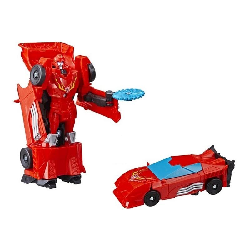 Mô hình siêu xe màu đỏ lắp ráp thành robot 12cm
