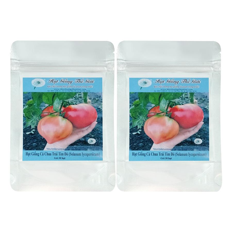 Bộ 2 Túi Hạt Giống Cà Chua Trái Tim Đỏ - Solanum lycopersicum (30 Hạt)