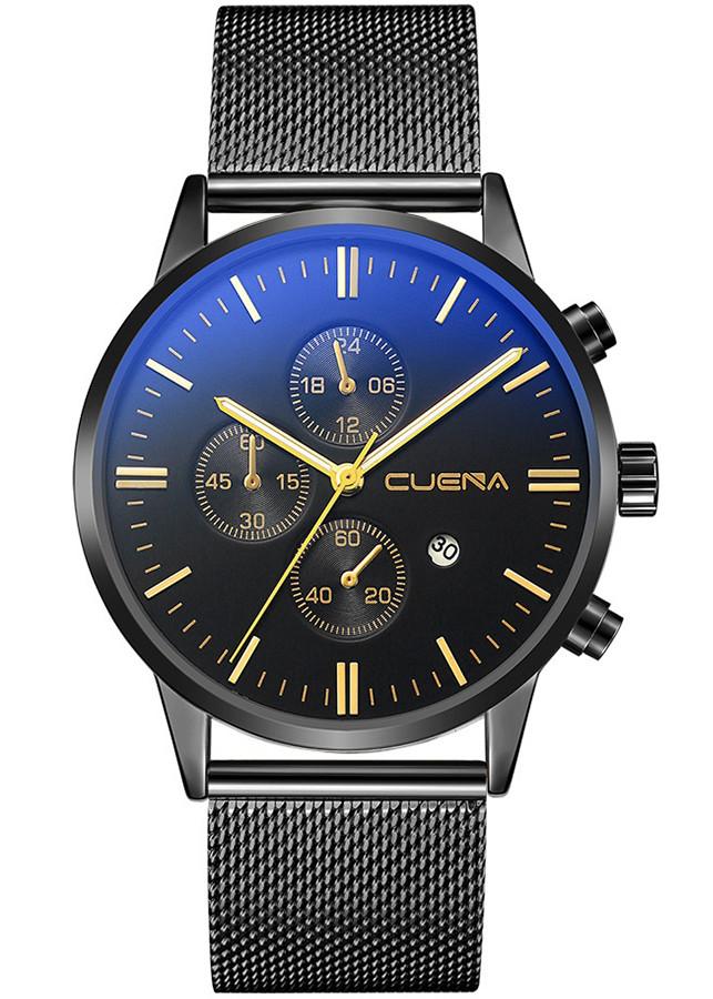 Đồng hồ nam CUENA hàng cao cấp, thiết kế phong cách doanh nhân, chạy full kim, full box