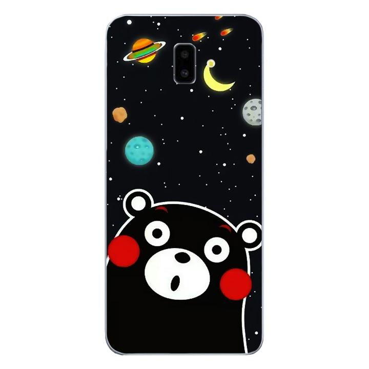 Ốp lưng dẻo Nettacase cho điện thoại Samsung Galaxy J6 PLus_0345 BEAR03 - Hàng Chính Hãng