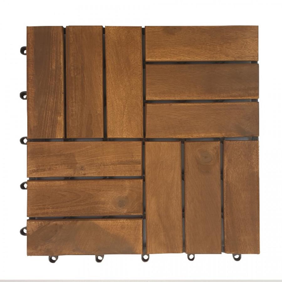 Ván sàn gổ lót sàn 12 nan - nâu đỏ (20 tấm)