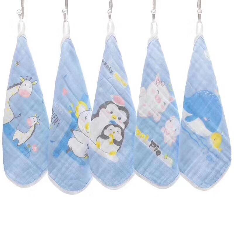 Set 5 khăn mặt cotton siêu thấm mềm