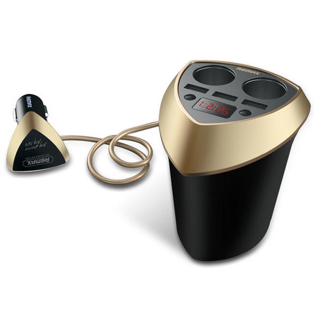 Bộ chia tẩu sạc oto, xe hơi cao cấp 2 tẩu-3 cổng USB REMAX - 4757926 , 8867235965328 , 62_15320782 , 295000 , Bo-chia-tau-sac-oto-xe-hoi-cao-cap-2-tau-3-cong-USB-REMAX-62_15320782 , tiki.vn , Bộ chia tẩu sạc oto, xe hơi cao cấp 2 tẩu-3 cổng USB REMAX