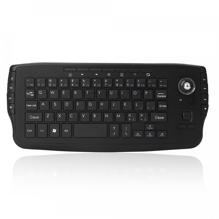 E30 2.4GHz Wireless Keyboard With Trackball Mouse Scroll Wheel Remote Control For Android TV BOX Smart TV PC Notebook - Black - 9609701 , 6858232482347 , 62_19385359 , 691000 , E30-2.4GHz-Wireless-Keyboard-With-Trackball-Mouse-Scroll-Wheel-Remote-Control-For-Android-TV-BOX-Smart-TV-PC-Notebook-Black-62_19385359 , tiki.vn , E30 2.4GHz Wireless Keyboard With Trackball Mouse Scr