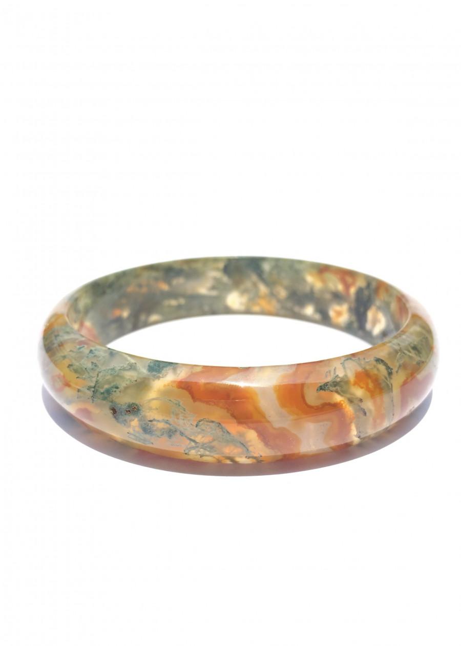 Vòng Tay Huyết Ngọc Thủy Tảo Cao Cấp Bản Tròn NEJA Gemstones