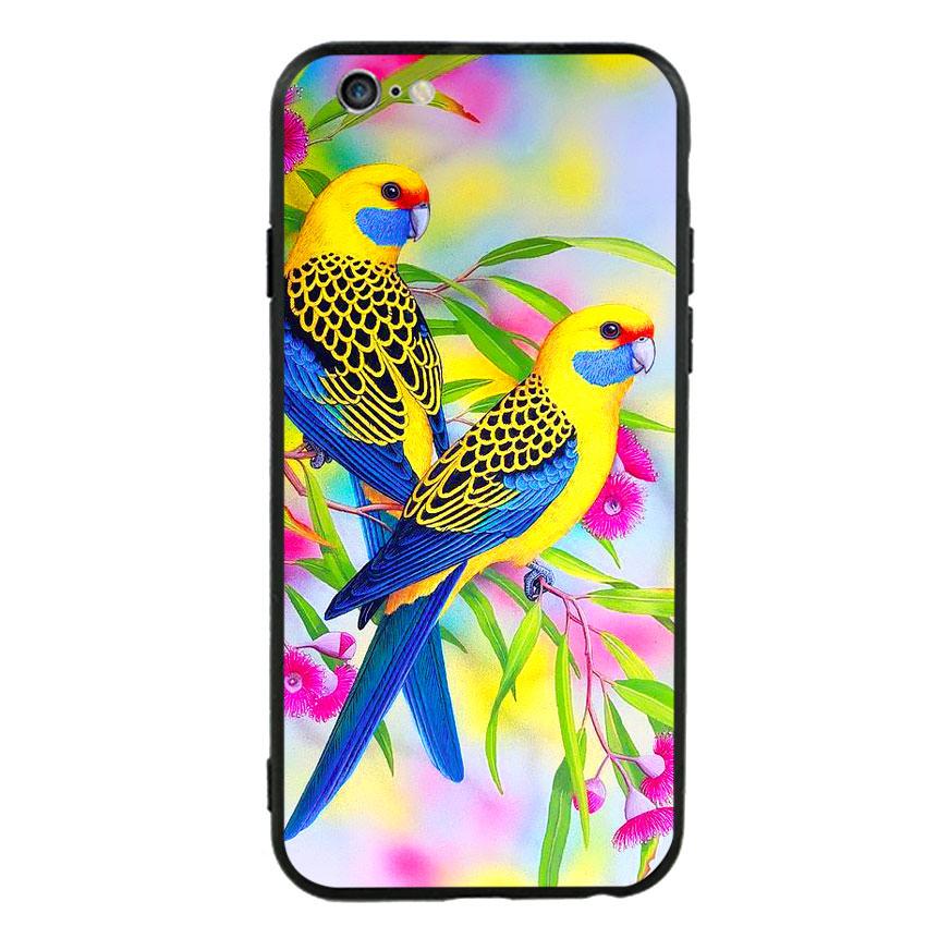 Ốp lưng nhựa cứng viền dẻo TPU cho điện thoại Iphone 6 Plus/6s Plus - Couple Bird