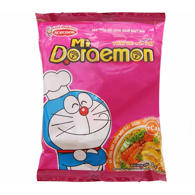 Mì Gói Doraemon Hương Vị Tôm Gà Tỏi Phi Acecook (62g)