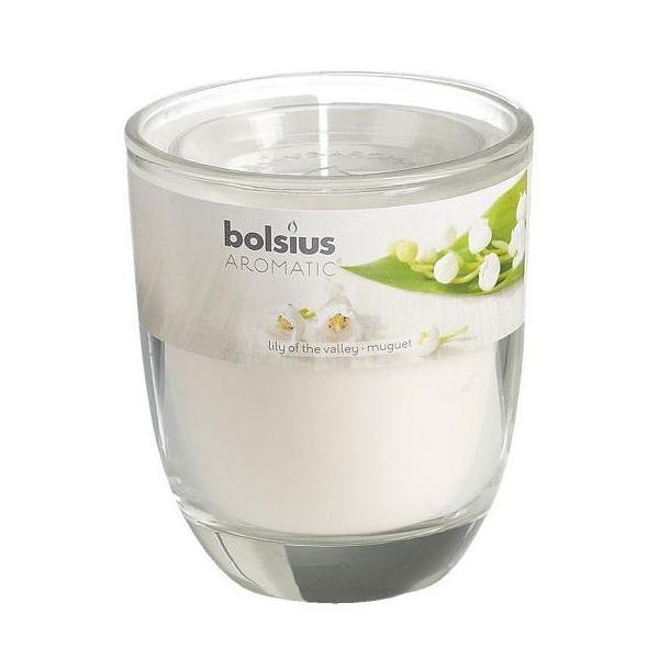 Ly nến thơm Bolsius Lily of the Valley BOL7440 295g (Hương hoa ly)