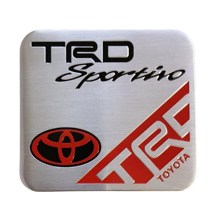 Tem kim loại trang trí ô tô TRD