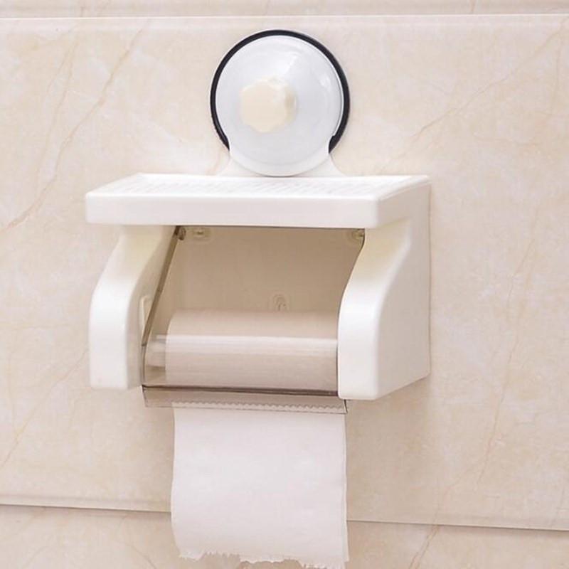 Hộp đựng giấy vệ sinh hút chân không đa năng + Tặng kèm que thông tắc cống