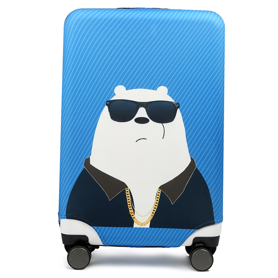 Companion line suitcase protective cover elastic luggage set pull box dust cover thick wear-resistant trolley case cartoon protective cover...