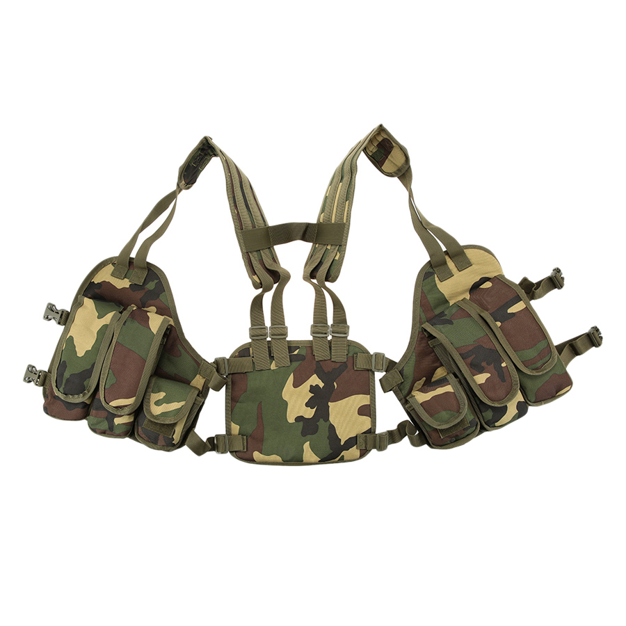 Outdoor Tactical Chest Rig Adjustable Padded Modular Military Vest Mag Pouch Magazine Holder Bag Platform - Camouflage - 1838644 , 4107182881406 , 62_13800409 , 505000 , Outdoor-Tactical-Chest-Rig-Adjustable-Padded-Modular-Military-Vest-Mag-Pouch-Magazine-Holder-Bag-Platform-Camouflage-62_13800409 , tiki.vn , Outdoor Tactical Chest Rig Adjustable Padded Modular Militar